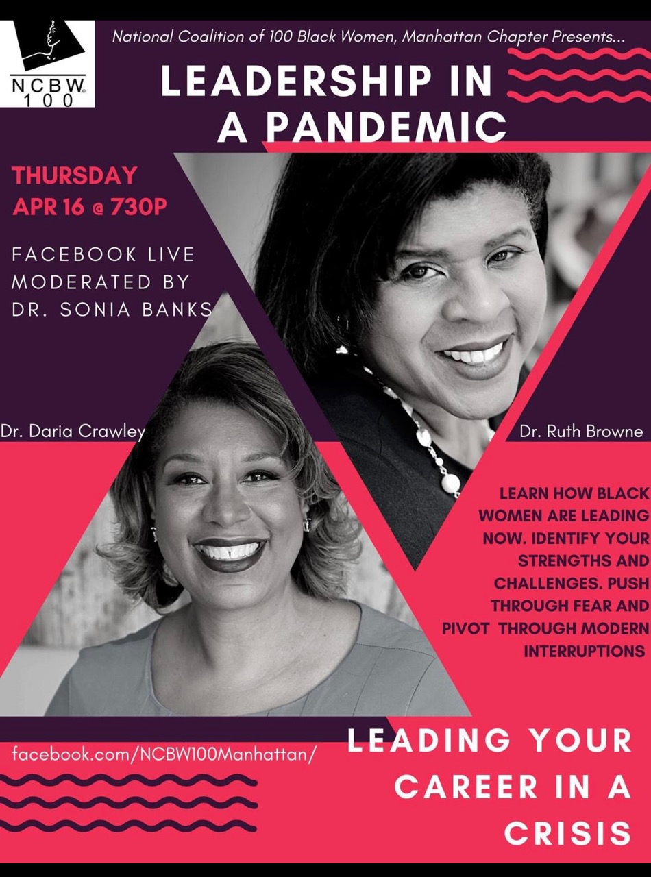 Full sized flier for Leadership in a Pandemic