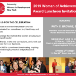 Women in development Woman of Achievement Award Luncheon Flier